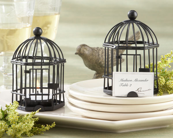 Birdcage Tea Light and Place Card Holder