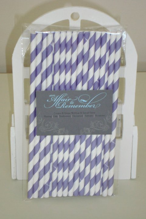Paper Straws - Purple - Pk 25