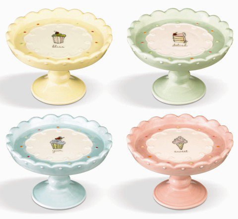 Spring Pedestal Cupcake Stands Collection Set