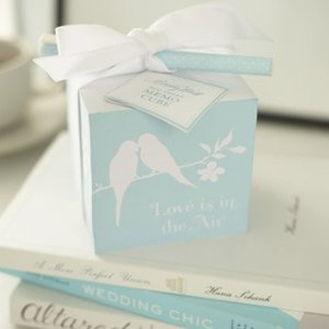 Mindy Weiss Love Birds Memo Cube with Polka Dot Pen