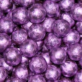 Chocolate Foil Marbles ~ Purple
