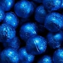 Chocolate Foil Marbles ~ Dark Blue