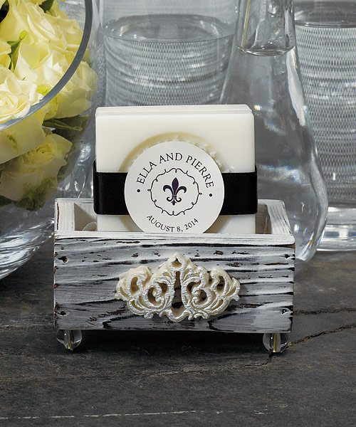Jewel Footed Wooden Boxes with Aged White Finish