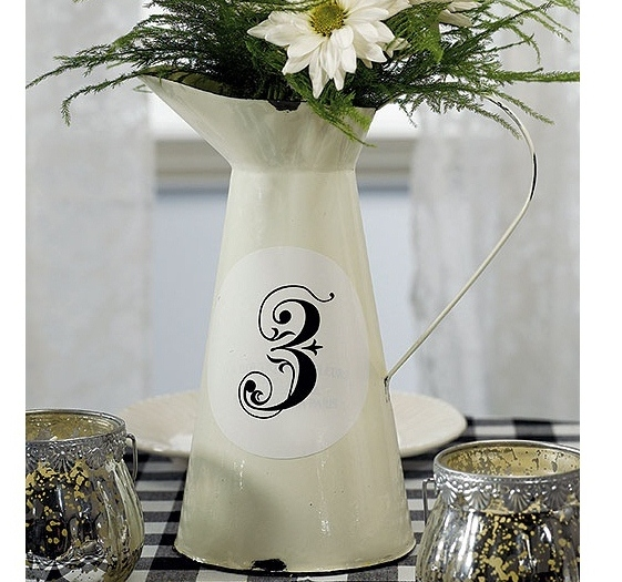French Provincial Style Enamel Pitcher