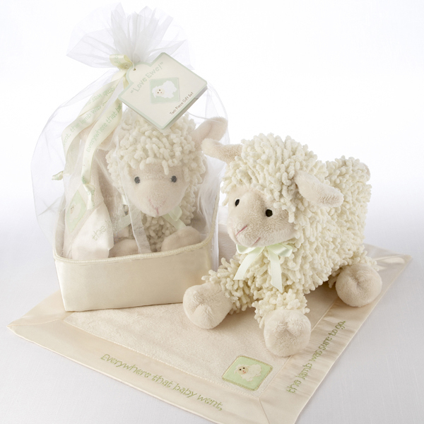 """Love Ewe"" Plush Lamb Gift Set"