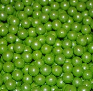 Sixlets ~ Shimmer Lime Green