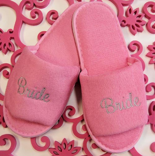 Bridal Party Embroidery Slipper