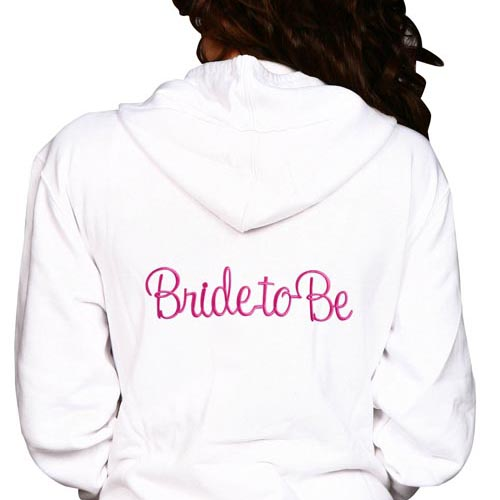 Bride To Be Embroidery Hoodie