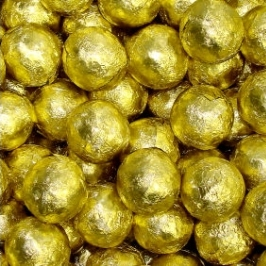 Chocolate Foil Marbles ~ Gold