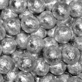 Chocolate Foil Marbles ~ Silver
