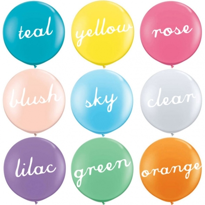Giant round balloons (soft colours)