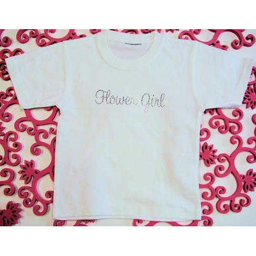 Flower Girl Crystal T-Shirt