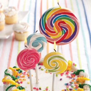 Lollipop Candle Favors - Small Size