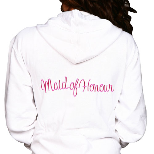 Maid/Matron of Honour Embroidery Hoodie