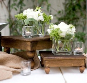 Farmhouse Wood Pedestal Set