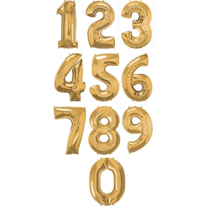Giant Number Balloons (Gold)