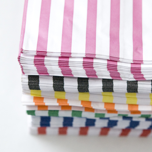 Candy Stripe Bags ~ Yellow